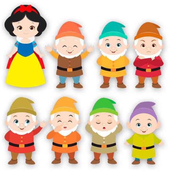 Kinderzimmer Wandtattoo: Kit Schneewittchen und die sieben Zwerge