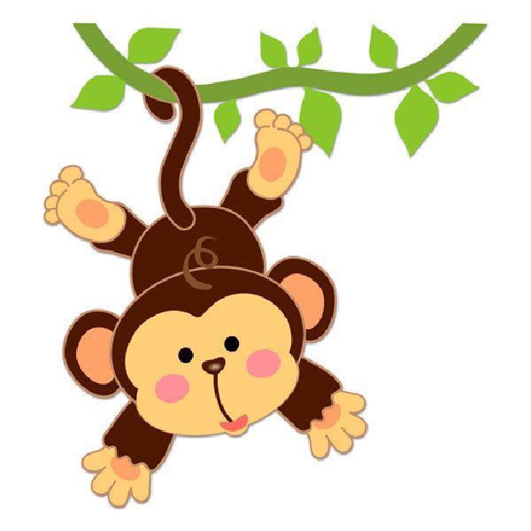 Kinderzimmer Wandtattoo: Affe hängt am Rebstock