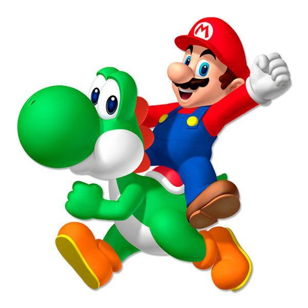 Kinderzimmer Wandtattoo: Mario und Yoshi