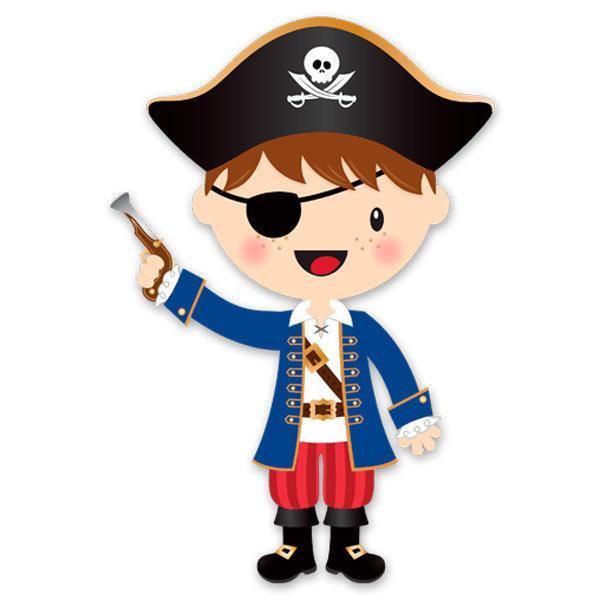 Kinderzimmer Wandtattoo: Die kleinen Piraten Pistole