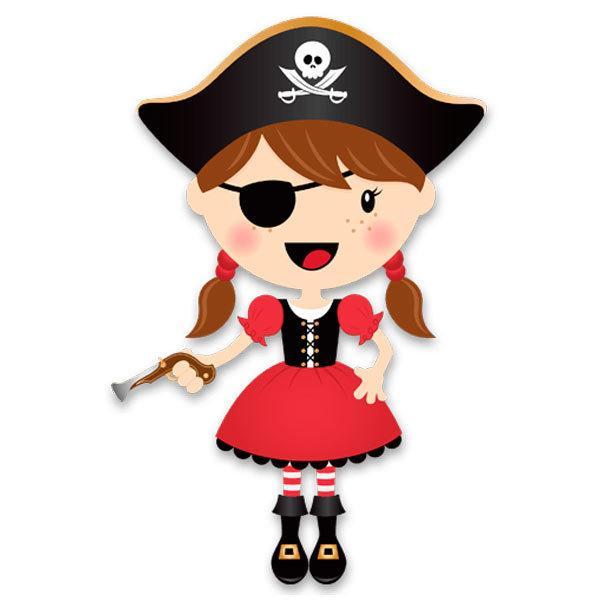 Kinderzimmer Wandtattoo: Der kleine Pirat Gewehr