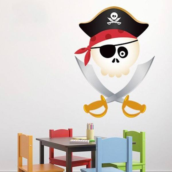 Kinderzimmer Wandtattoo: Kinder Piraten-Totenkopf
