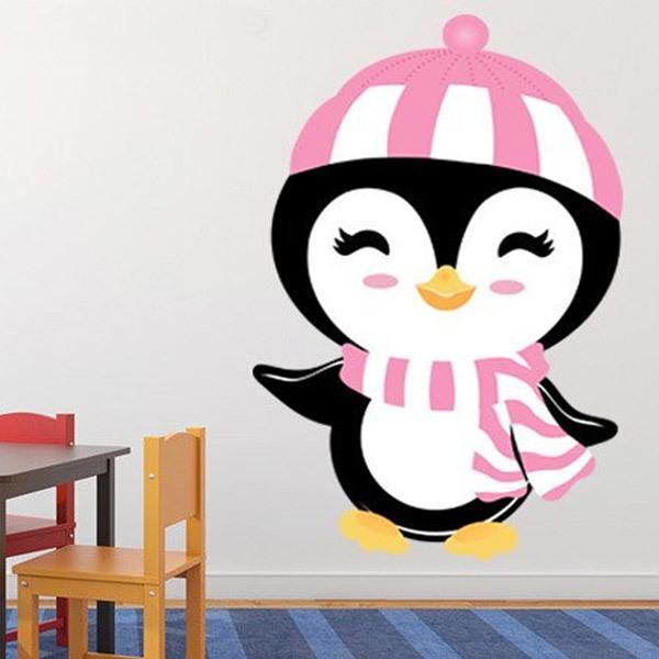 Kinderzimmer Wandtattoo: Penguin Winter Hut