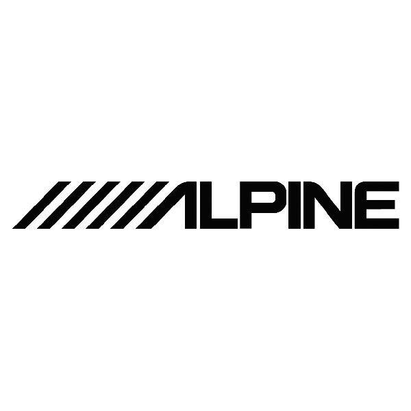 Aufkleber: Alpine
