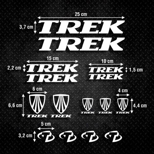 Aufkleber: Kit Fahrrad Mountainbike MTB Trek 3