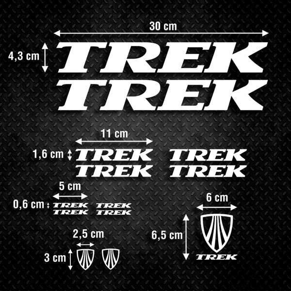 Aufkleber: Kit Fahrrad Mountainbike MTB Trek 4