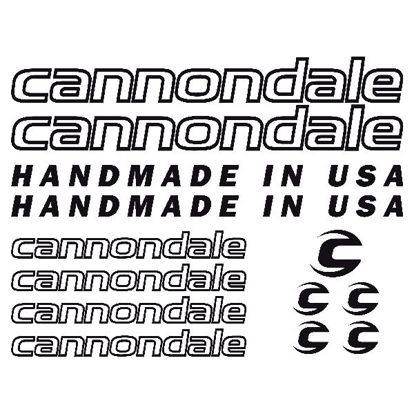 Aufkleber: Kit Fahrrad Mountainbike MTB Cannondale 2