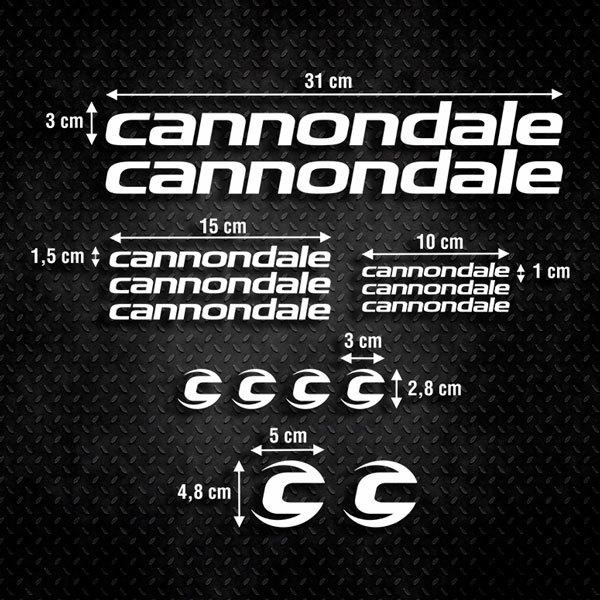 Aufkleber: Kit Fahrrad Mountainbike MTB Cannondale 3