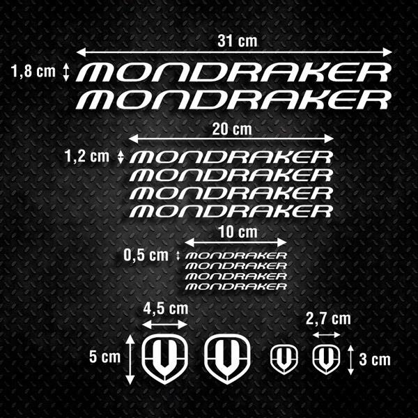 Aufkleber: Kit Fahrrad Mountainbike MTB Mondraker 2