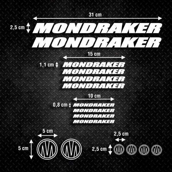 Aufkleber: Kit Fahrrad Mountainbike MTB Mondraker 3