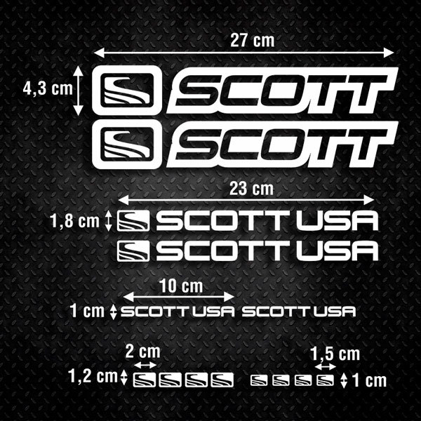 Aufkleber: Kit Fahrrad Mountainbike MTB Scott 2