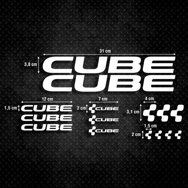 Aufkleber: Kit Fahrrad Mountainbike MTB Cube 1