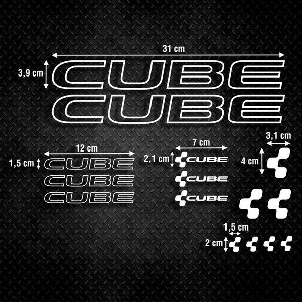 Aufkleber: Kit Fahrrad Mountainbike MTB Cube 2