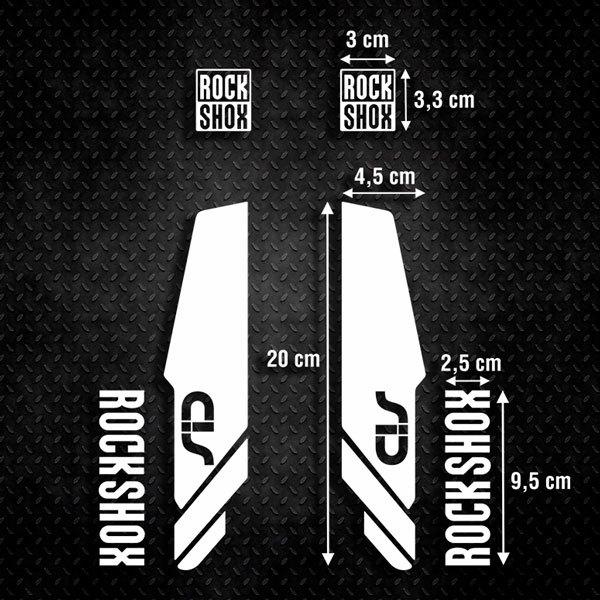 Aufkleber: Aufkleber Rock Shox Sid Gabeln Mountain Bike B
