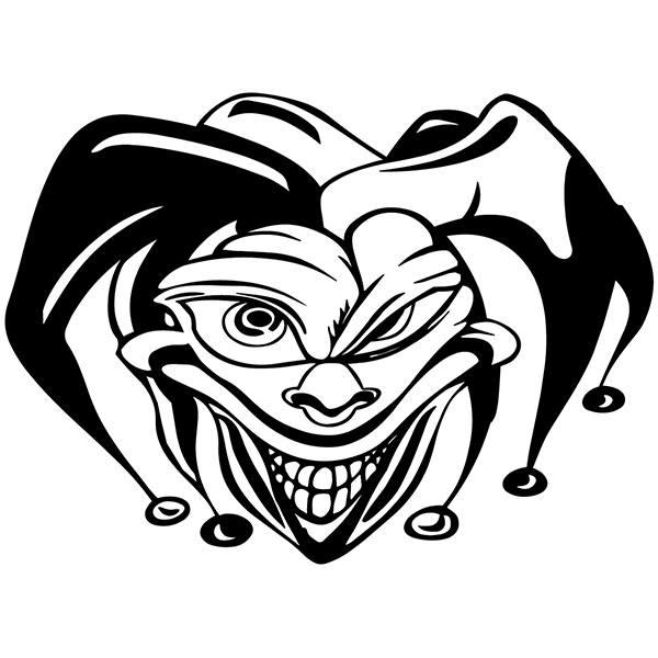 Aufkleber: Joker