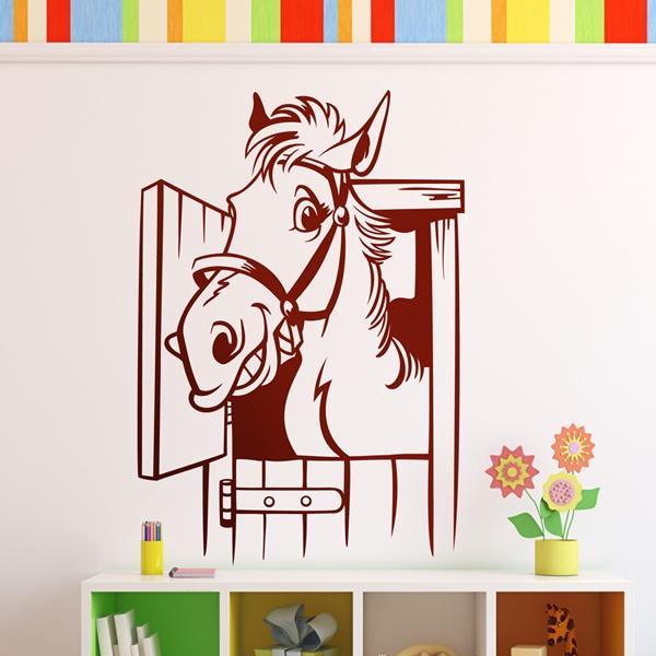 Kinderzimmer Wandtattoo: funny horse