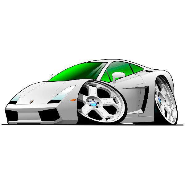 Kinderzimmer Wandtattoo: Lamborghini