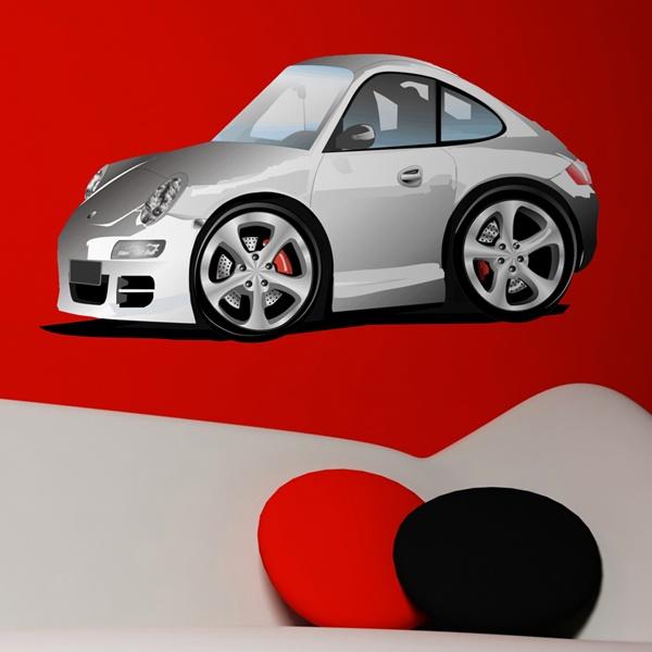 Kinderzimmer Wandtattoo: Porsche