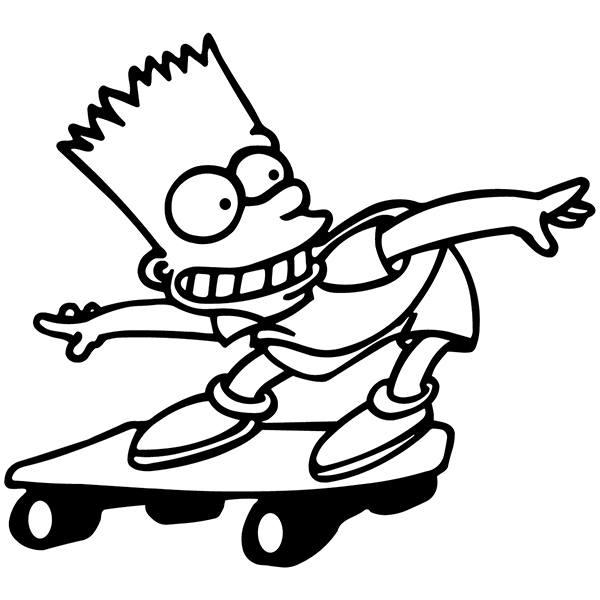 Aufkleber: Bart Skate