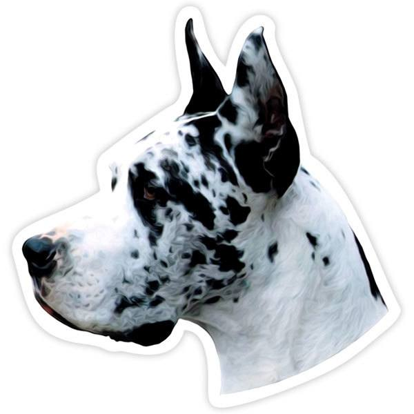 Aufkleber: Harlequin Great Dane