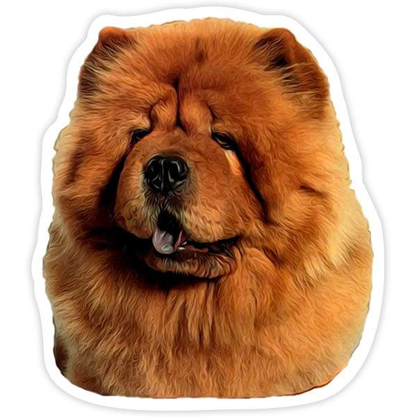 Aufkleber: Red Chow Chow