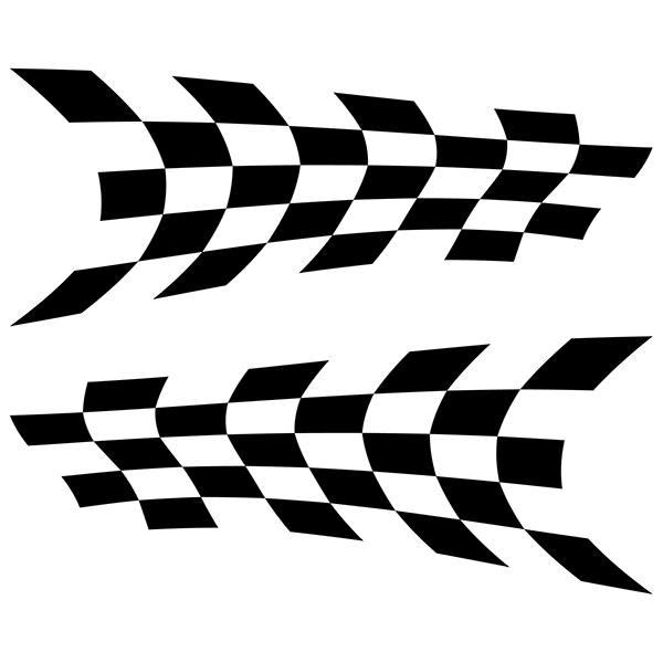 Aufkleber: Racing Flaggen 2