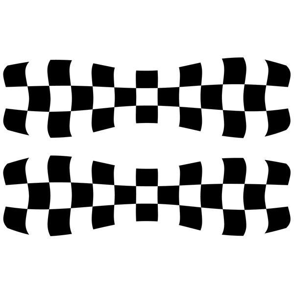 Aufkleber: Racing Flaggen 3