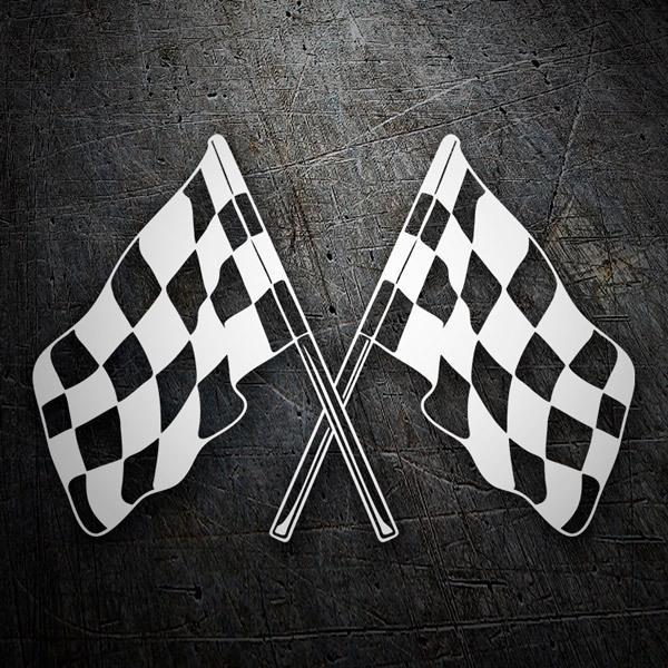 Aufkleber: Racing Flaggen 4