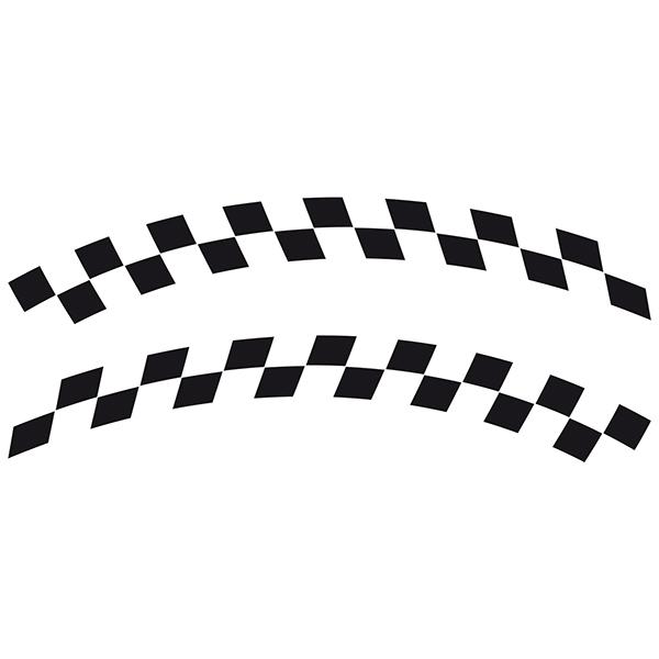 Aufkleber: Racing Flaggen 7