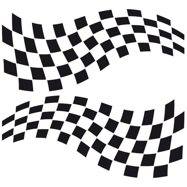 Aufkleber: Racing Flaggen 9