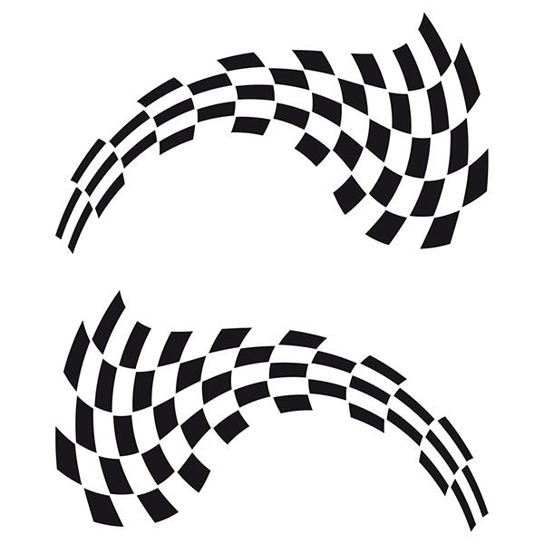 Aufkleber: Racing Flaggen 11