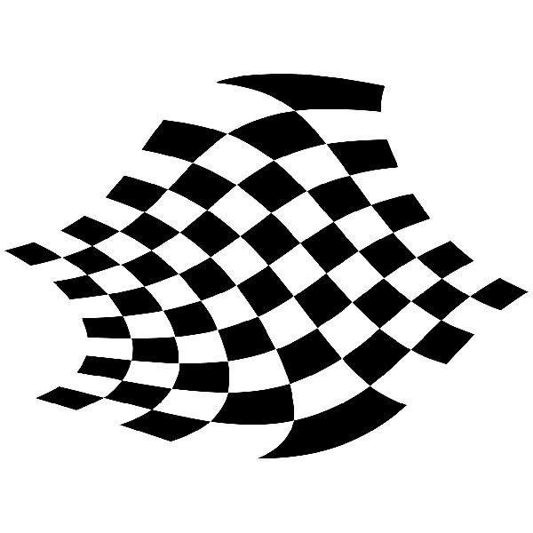 Aufkleber: Racing Flaggen 14