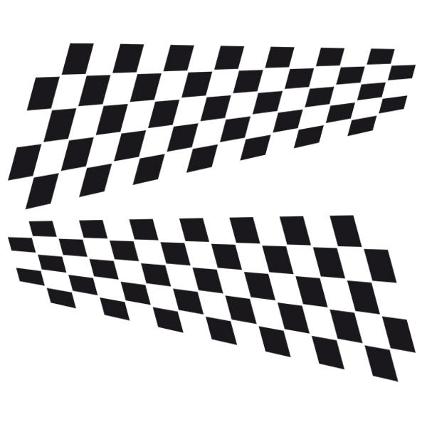 Aufkleber: Racing Flaggen 15