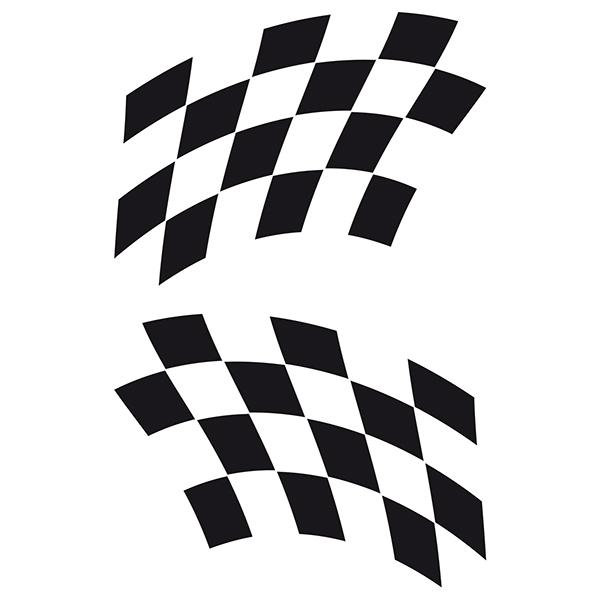 Aufkleber: Racing Flaggen 19