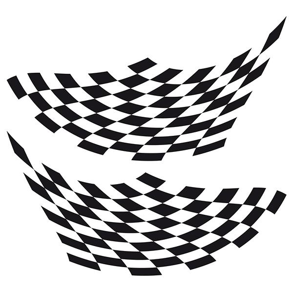Aufkleber: Racing Flaggen 20