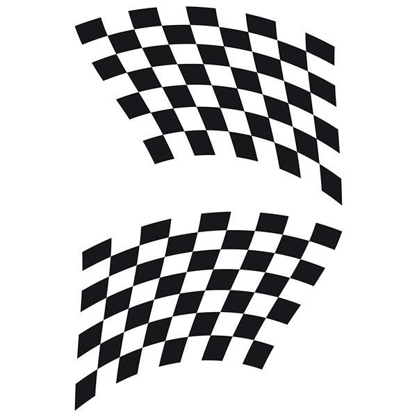 Aufkleber: Racing Flaggen 21