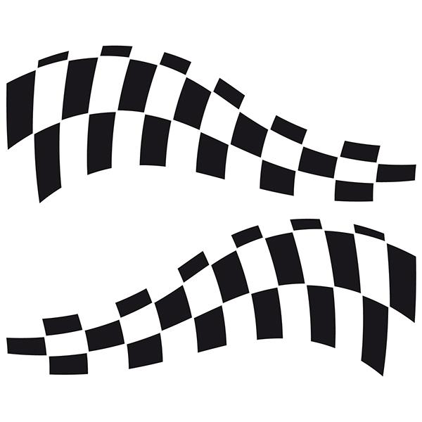 Aufkleber: Racing Flaggen 23