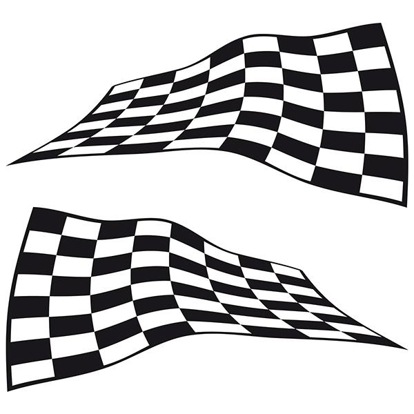 Aufkleber: Racing Flaggen 25