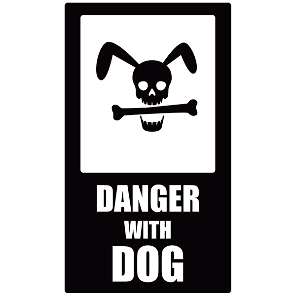 Wandtattoos: Danger Dog