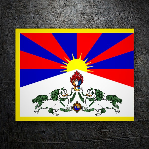 Aufkleber: Tibet
