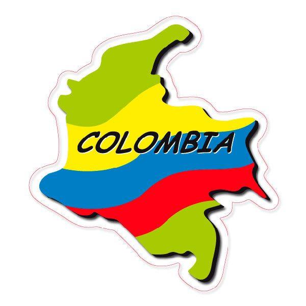 Aufkleber: Colombia