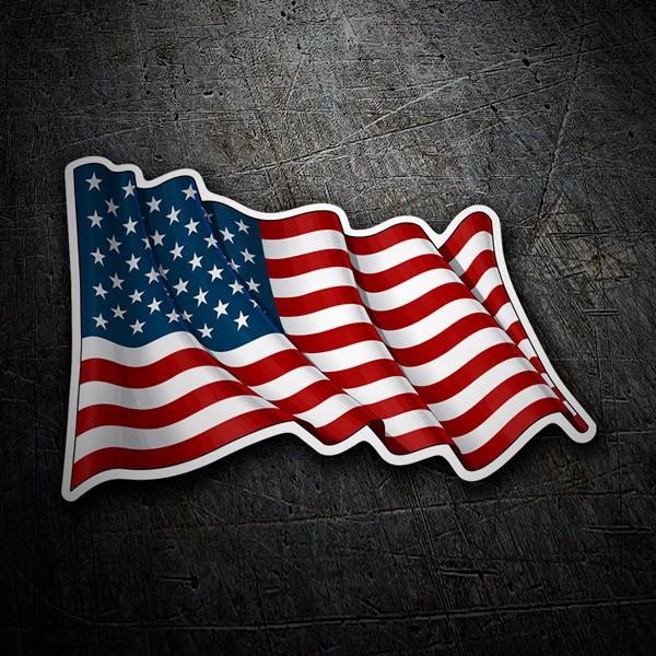 Aufkleber: USA Fahnenschwingen