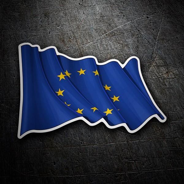 Aufkleber: Europäischen Union Fahnenschwingen