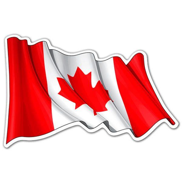Aufkleber: Flagge von Kanada schwenkte
