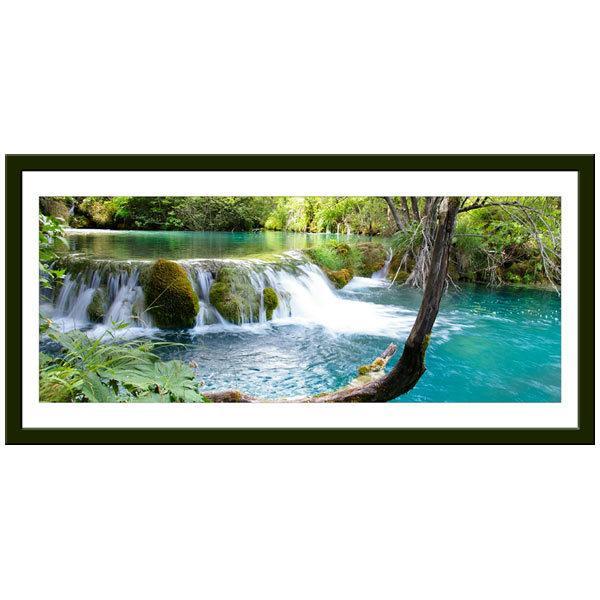 Wandtattoos: Vegetation und der Fluss-und Wasserfall
