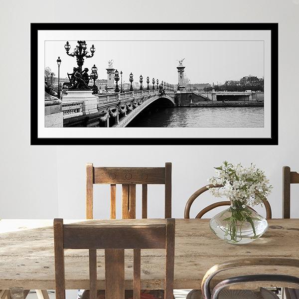 Wandtattoos: Brücke über den Fluss Seine in Paris