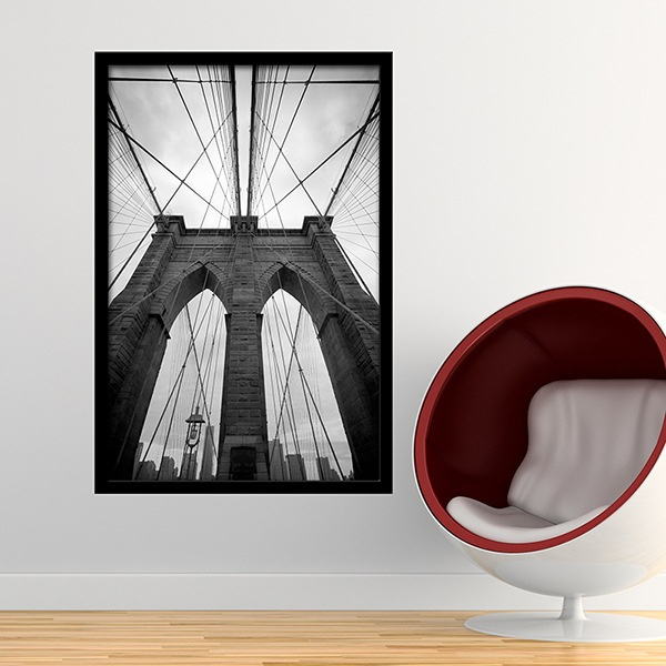 Wandtattoos: Innerhalb der Brooklyn Bridge