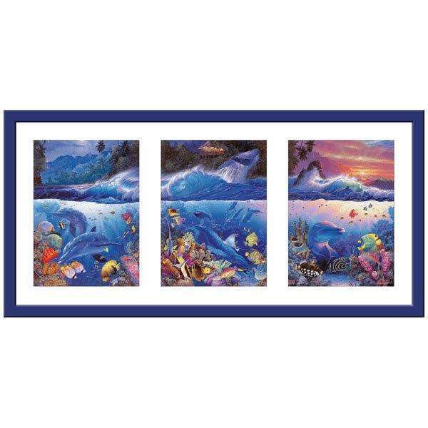 Wandtattoos: Triptychon Meeresboden