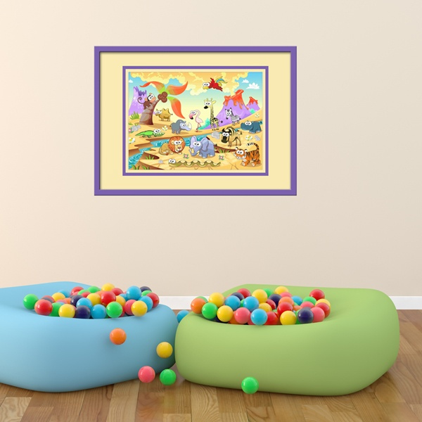 Kinderzimmer Wandtattoo: Tiere durch den Fluss