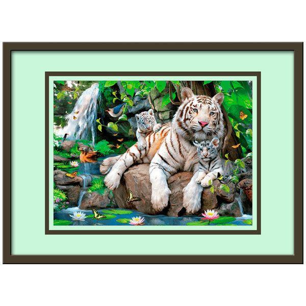 Kinderzimmer Wandtattoo:  weißen Tigers
